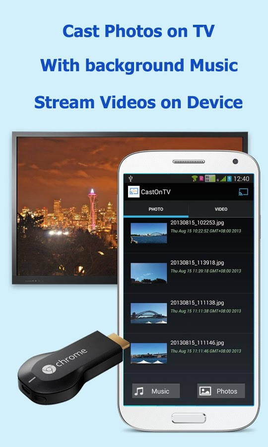 CastOnTV app for Chromecast